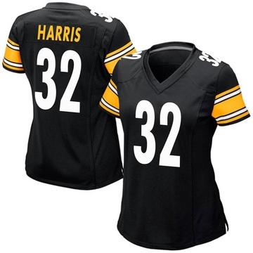 Women's Nike Pittsburgh Steelers Franco Harris Black Team Color Jersey - Game