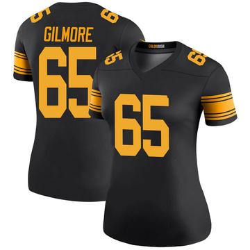 Women's Nike Pittsburgh Steelers Greg Gilmore Black Color Rush Jersey - Legend