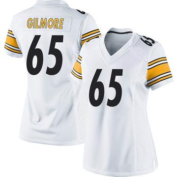Women's Nike Pittsburgh Steelers Greg Gilmore White Jersey - Game