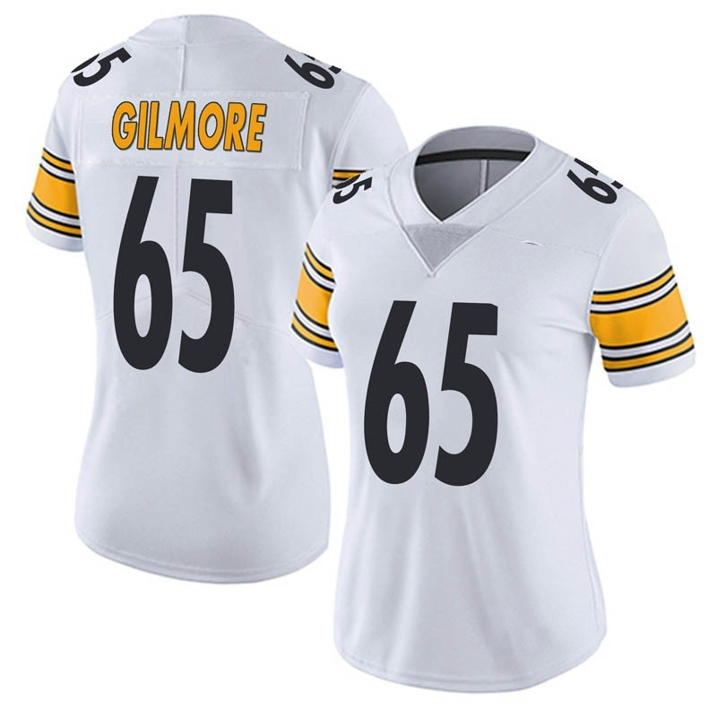 125b45c85 Women's Nike Pittsburgh Steelers Greg Gilmore White Vapor Untouchable Jersey  - Limited