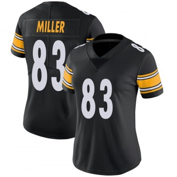 Women's Nike Pittsburgh Steelers Heath Miller Black Team Color Vapor Untouchable Jersey - Limited