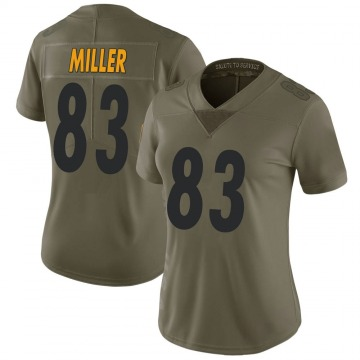 Women's Nike Pittsburgh Steelers Heath Miller Green 2017 Salute to Service Jersey - Limited