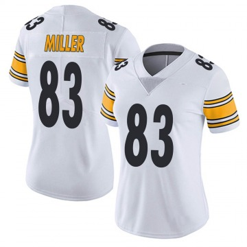 Women's Nike Pittsburgh Steelers Heath Miller White Vapor Untouchable Jersey - Limited