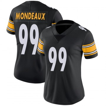 Women's Nike Pittsburgh Steelers Henry Mondeaux Black 100th Vapor Jersey - Limited