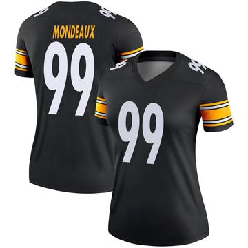 Women's Nike Pittsburgh Steelers Henry Mondeaux Black Jersey - Legend