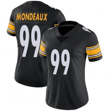 Women's Nike Pittsburgh Steelers Henry Mondeaux Black Team Color Vapor Untouchable Jersey - Limited