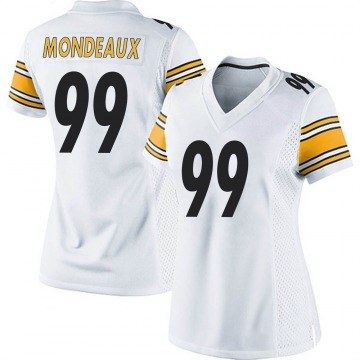 Women's Nike Pittsburgh Steelers Henry Mondeaux White Jersey - Game