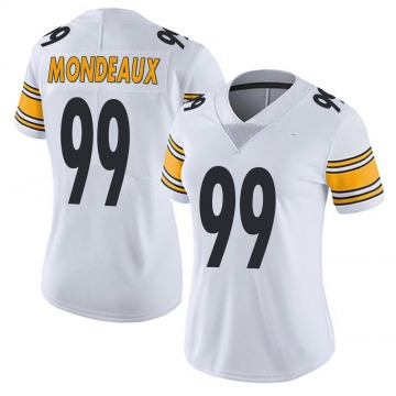 Women's Nike Pittsburgh Steelers Henry Mondeaux White Vapor Untouchable Jersey - Limited