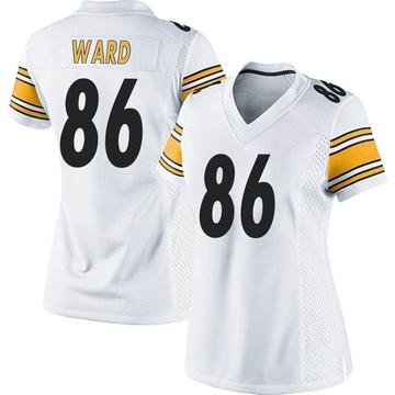 Women's Nike Pittsburgh Steelers Hines Ward White Jersey - Game