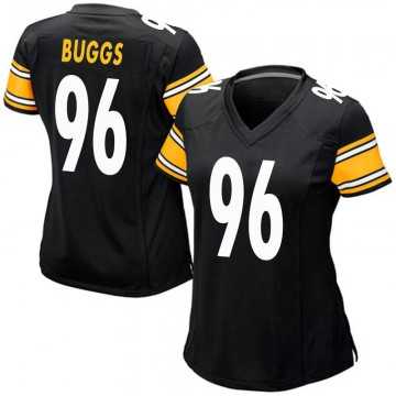 Women's Nike Pittsburgh Steelers Isaiah Buggs Black Team Color Jersey - Game