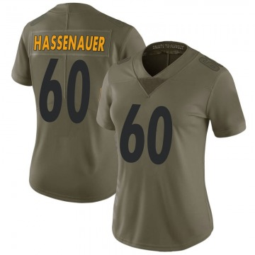 Women's Nike Pittsburgh Steelers J.C. Hassenauer Green 2017 Salute to Service Jersey - Limited