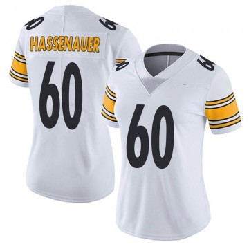 Women's Nike Pittsburgh Steelers J.C. Hassenauer White Vapor Untouchable Jersey - Limited
