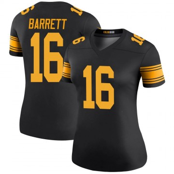 Women's Nike Pittsburgh Steelers J.T. Barrett Black Color Rush Jersey - Legend