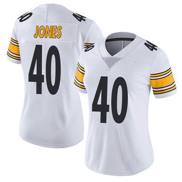 Women's Nike Pittsburgh Steelers J.T. Jones White Vapor Untouchable Jersey - Limited