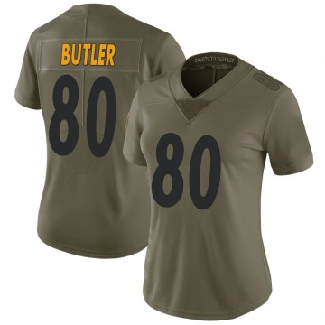 Women's Nike Pittsburgh Steelers Jack Butler Green 2017 Salute to Service Jersey - Limited