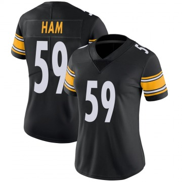 Women's Nike Pittsburgh Steelers Jack Ham Black 100th Vapor Jersey - Limited