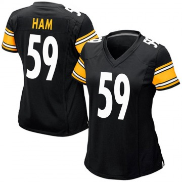 Women's Nike Pittsburgh Steelers Jack Ham Black Team Color Jersey - Game