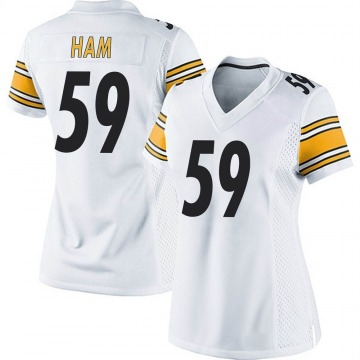 Women's Nike Pittsburgh Steelers Jack Ham White Jersey - Game