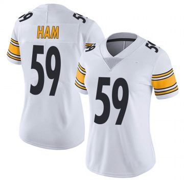 Women's Nike Pittsburgh Steelers Jack Ham White Vapor Untouchable Jersey - Limited