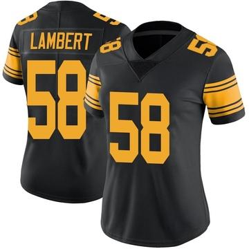 Women's Nike Pittsburgh Steelers Jack Lambert Black Color Rush Jersey - Limited