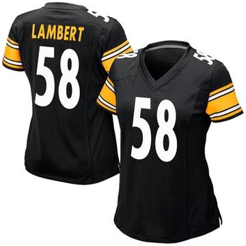 Women's Nike Pittsburgh Steelers Jack Lambert Black Team Color Jersey - Game