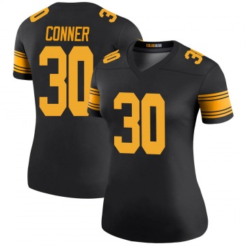 Women's Nike Pittsburgh Steelers James Conner Black Color Rush Jersey - Legend