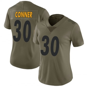 Women's Nike Pittsburgh Steelers James Conner Green 2017 Salute to Service Jersey - Limited