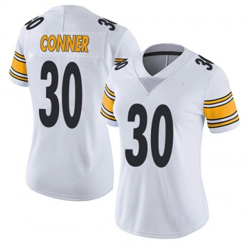 Women's Nike Pittsburgh Steelers James Conner White Vapor Untouchable Jersey - Limited