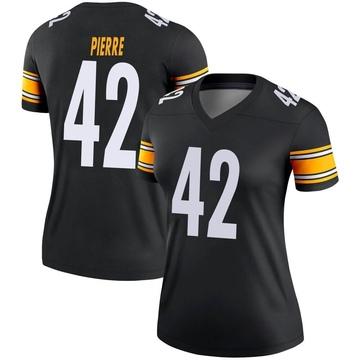 Women's Nike Pittsburgh Steelers James Pierre Black Jersey - Legend