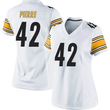 Women's Nike Pittsburgh Steelers James Pierre White Jersey - Game