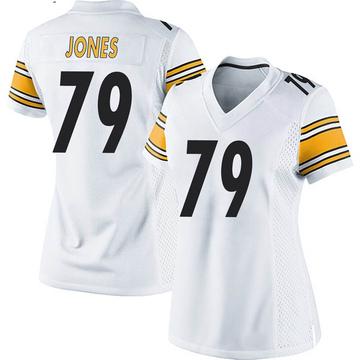 Women's Nike Pittsburgh Steelers Jarron Jones White Jersey - Game