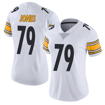 Women's Nike Pittsburgh Steelers Jarron Jones White Vapor Untouchable Jersey - Limited