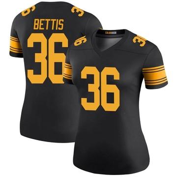 Women's Nike Pittsburgh Steelers Jerome Bettis Black Color Rush Jersey - Legend