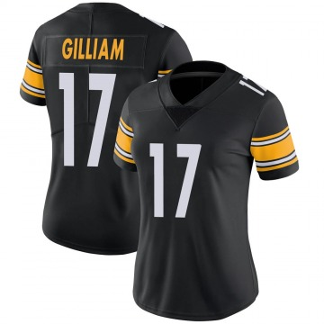 Women's Nike Pittsburgh Steelers Joe Gilliam Black Team Color Vapor Untouchable Jersey - Limited