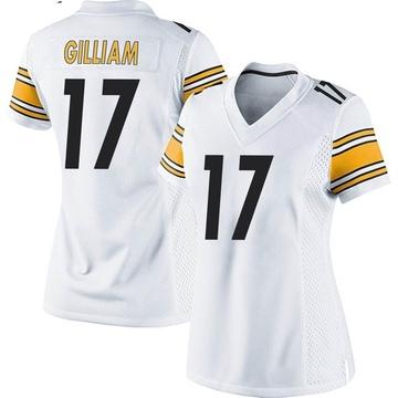 Women's Nike Pittsburgh Steelers Joe Gilliam White Jersey - Game