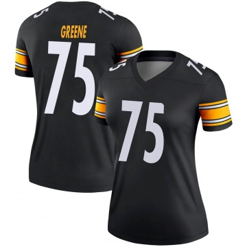 Women's Nike Pittsburgh Steelers Joe Greene Green Black Jersey - Legend