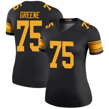 Women's Nike Pittsburgh Steelers Joe Greene Green Color Rush Black Jersey - Legend