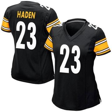 Women's Nike Pittsburgh Steelers Joe Haden Black Team Color Jersey - Game