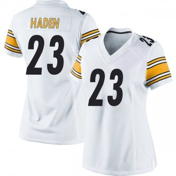 Women's Nike Pittsburgh Steelers Joe Haden White Jersey - Game