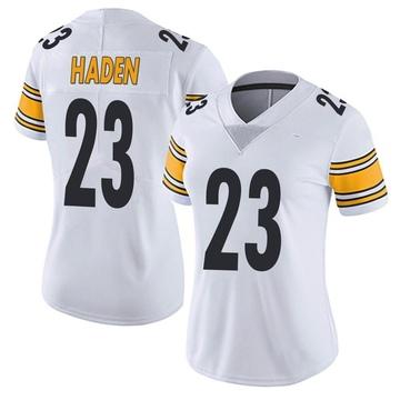 Women's Nike Pittsburgh Steelers Joe Haden White Vapor Untouchable Jersey - Limited