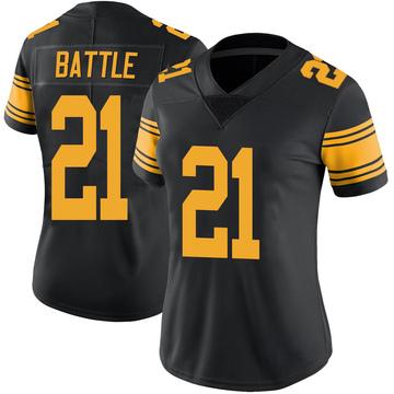 Women's Nike Pittsburgh Steelers John Battle Black Color Rush Jersey - Limited