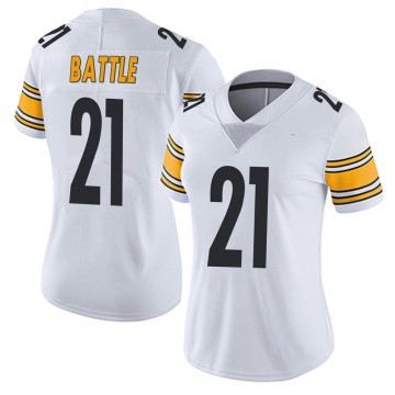 Women's Nike Pittsburgh Steelers John Battle White Vapor Untouchable Jersey - Limited