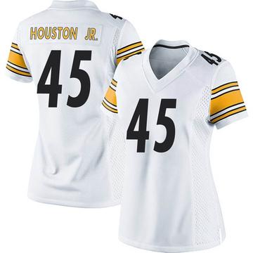 Women's Nike Pittsburgh Steelers John Houston Jr. White Jersey - Game