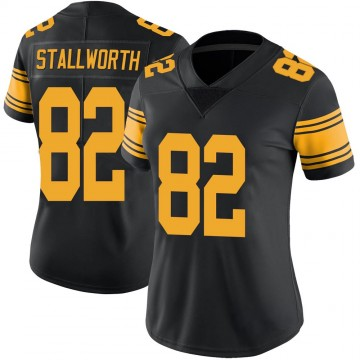 Women's Nike Pittsburgh Steelers John Stallworth Black Color Rush Jersey - Limited