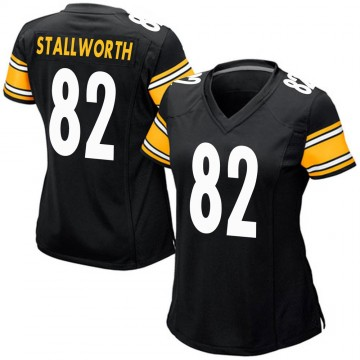 Women's Nike Pittsburgh Steelers John Stallworth Black Team Color Jersey - Game