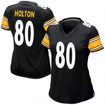 Women's Nike Pittsburgh Steelers Johnny Holton Black Team Color Jersey - Game