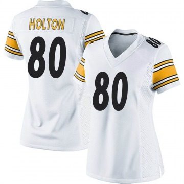 Women's Nike Pittsburgh Steelers Johnny Holton White Jersey - Game