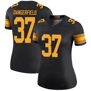 Women's Nike Pittsburgh Steelers Jordan Dangerfield Black Color Rush Jersey - Legend