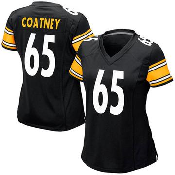 Women's Nike Pittsburgh Steelers Josiah Coatney Black Team Color Jersey - Game