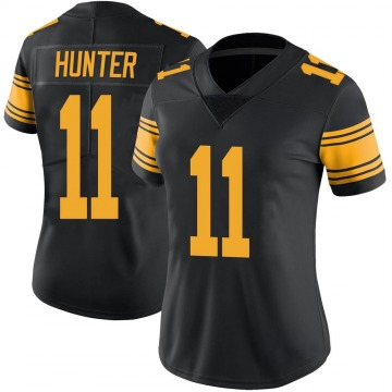 Women's Nike Pittsburgh Steelers Justin Hunter Black Color Rush Jersey - Limited